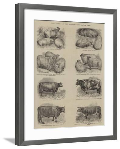 Prize Animals at the Smithfield Club Cattle Show--Framed Art Print