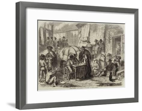 Letter-Writers and Dealers in Cigar-Ends at Rome--Framed Art Print