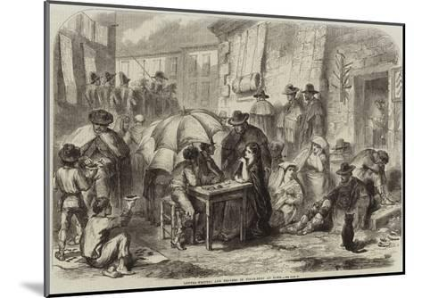 Letter-Writers and Dealers in Cigar-Ends at Rome--Mounted Giclee Print