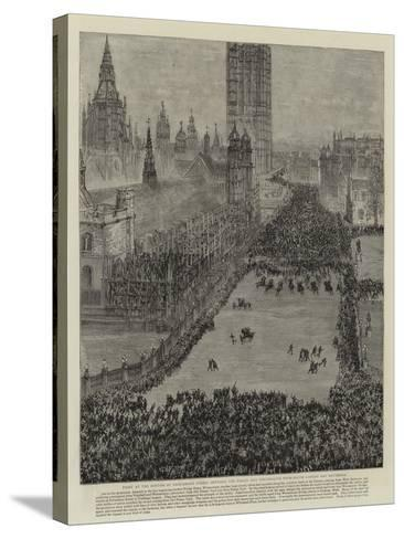 The Riot in Trafalgar Square, 13 November 1887--Stretched Canvas Print