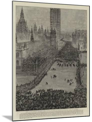 The Riot in Trafalgar Square, 13 November 1887--Mounted Giclee Print