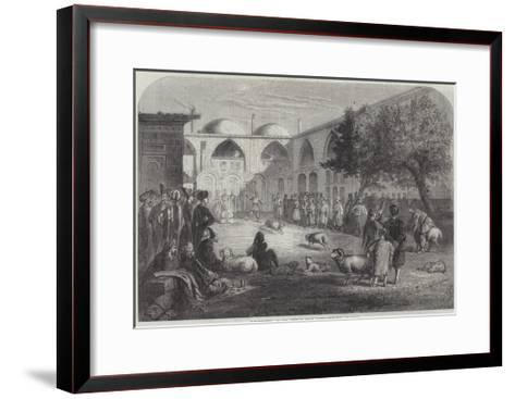 Ram-Fighting at the Persian Khan, Constantinople--Framed Art Print