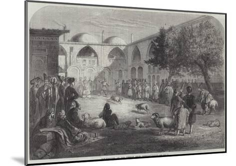 Ram-Fighting at the Persian Khan, Constantinople--Mounted Giclee Print