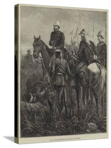A Zulu Guide Listening for Sounds of the Enemy--Stretched Canvas Print