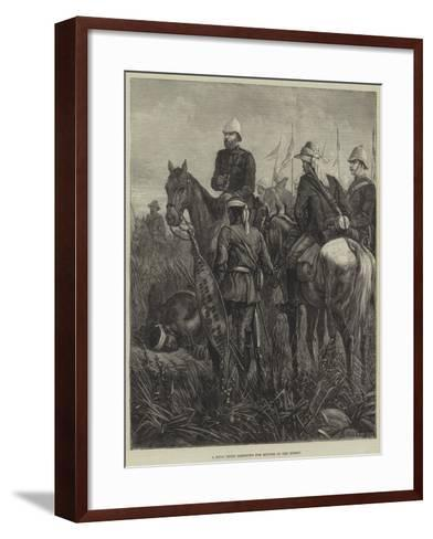 A Zulu Guide Listening for Sounds of the Enemy--Framed Art Print