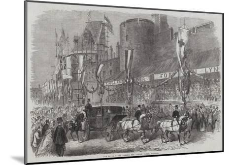 The Royal Party Passing the Curfew Tower, Windsor--Mounted Giclee Print