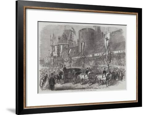 The Royal Party Passing the Curfew Tower, Windsor--Framed Art Print