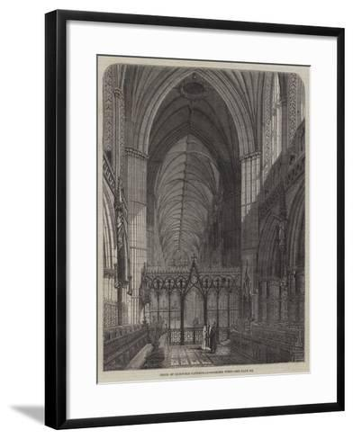 Choir of Lichfield Cathedral, Looking West--Framed Art Print