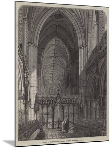 Choir of Lichfield Cathedral, Looking West--Mounted Giclee Print