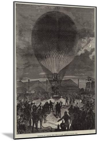 Departure of a Balloon from Paris at Night--Mounted Giclee Print