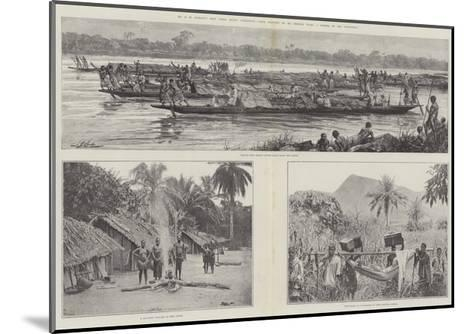 Mr H M Stanley's Emin Pasha Relief Expedition--Mounted Giclee Print