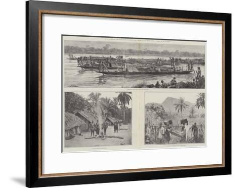 Mr H M Stanley's Emin Pasha Relief Expedition--Framed Art Print