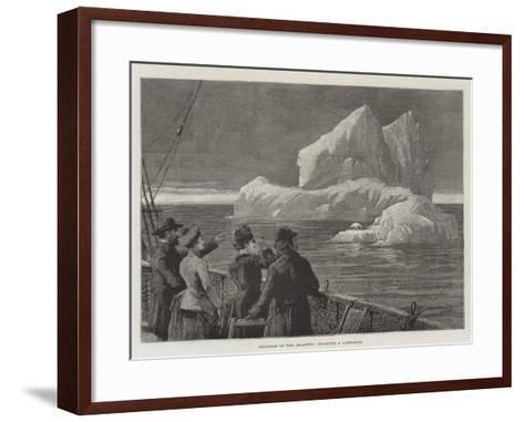 Icebergs in the Atlantic, Sighting a Castaway--Framed Art Print