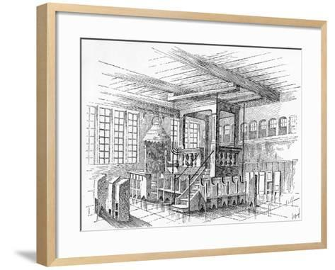 Interior of an Old Synagogue at Metz, Germany--Framed Art Print