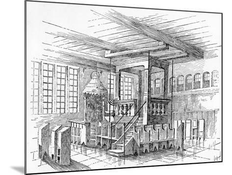 Interior of an Old Synagogue at Metz, Germany--Mounted Giclee Print