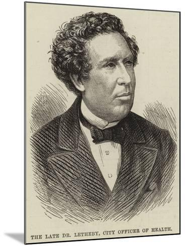 The Late Dr Letheby, City Officer of Health--Mounted Giclee Print
