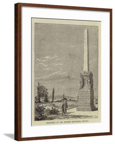 Monument in the British Graveyard, Scutari--Framed Art Print