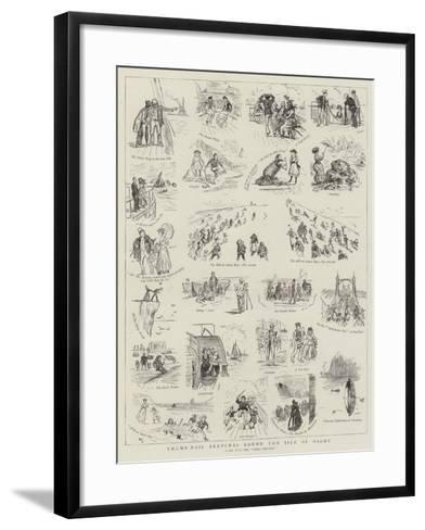 Thumb-Nail Sketches Round the Isle of Wight--Framed Art Print