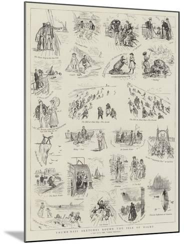 Thumb-Nail Sketches Round the Isle of Wight--Mounted Giclee Print