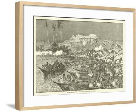 Arabs Massacring Manyuemas on the Lualaba--Framed Art Print