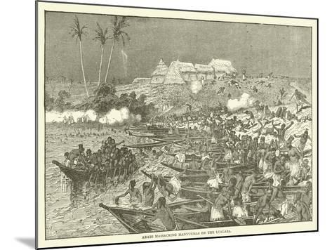 Arabs Massacring Manyuemas on the Lualaba--Mounted Giclee Print