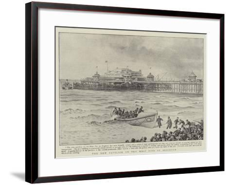 The New Pavilion on the West Pier at Brighton--Framed Art Print
