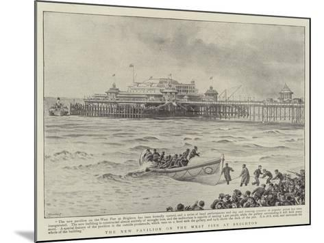 The New Pavilion on the West Pier at Brighton--Mounted Giclee Print