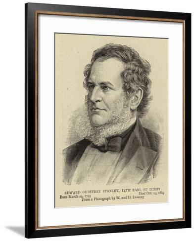Edward Geoffrey Stanley, 14th Earl of Derby--Framed Art Print