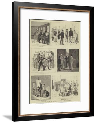 Students' Life in a Continental Art School--Framed Art Print