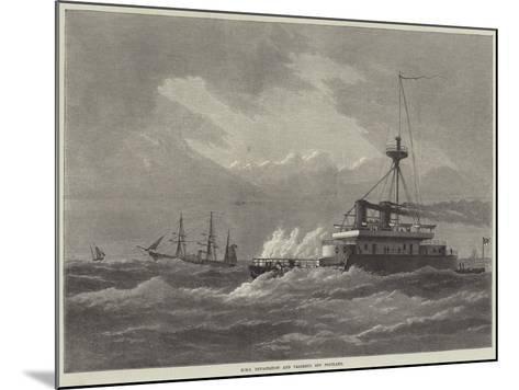 HMS Devastation and Valorous Off Portland--Mounted Giclee Print