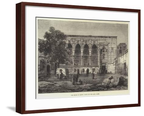 The Crisis in Egypt, Court of the Cadi, Cairo--Framed Art Print