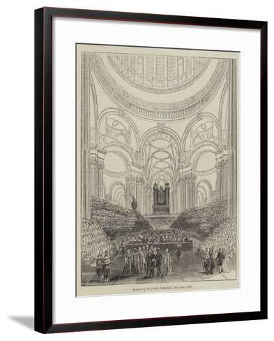 Interior of St Paul's Cathedral, 2 June 1842--Framed Art Print