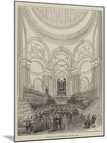 Interior of St Paul's Cathedral, 2 June 1842--Mounted Giclee Print