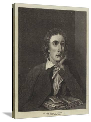 John Keats, in the National Portrait Gallery--Stretched Canvas Print