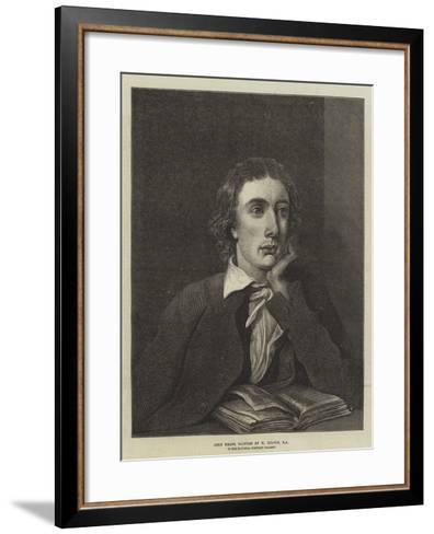 John Keats, in the National Portrait Gallery--Framed Art Print