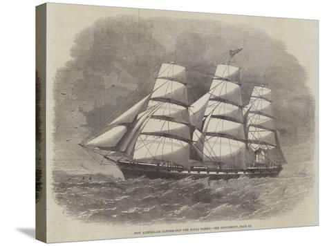 New Australian Clipper-Ship the Royal Family--Stretched Canvas Print
