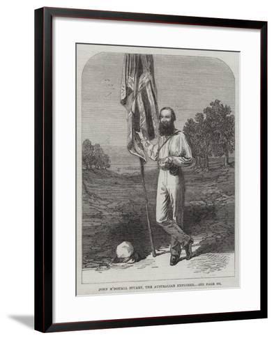 John M'Douall Stuart, the Australian Explorer--Framed Art Print