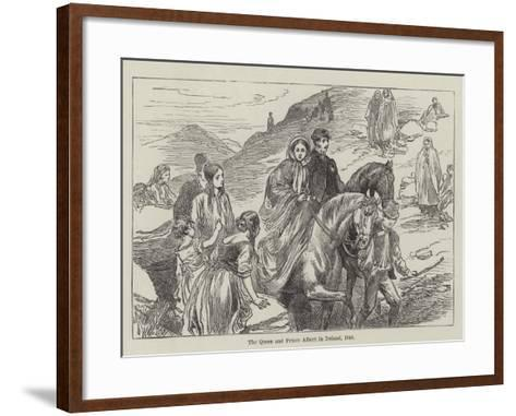 The Queen and Prince Albert in Ireland, 1849--Framed Art Print