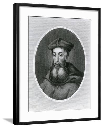 Portrait of Cardinal Reginald Pole (1500-58)--Framed Art Print
