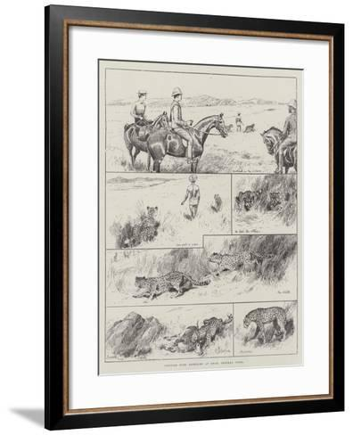 Hunting with Cheetahs at Dhar, Central India--Framed Art Print