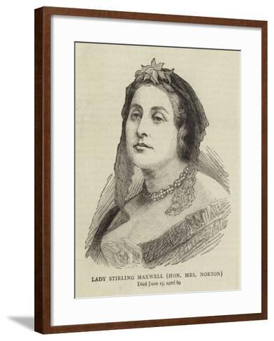 Lady Stirling Maxwell, Honourable Mrs Norton--Framed Art Print