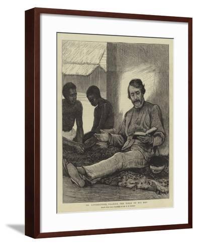 Dr Livingstone Reading the Bible to His Men--Framed Art Print