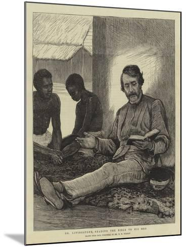 Dr Livingstone Reading the Bible to His Men--Mounted Giclee Print
