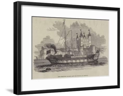 Old Floating Church Off the Tower of London--Framed Art Print