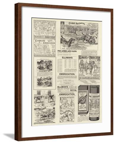 Advertisement, Elliman's Royal Embrocation--Framed Art Print