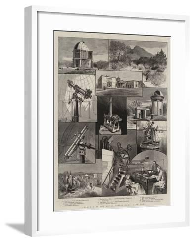 Sketches at the Royal Observatory, Cape Town--Framed Art Print