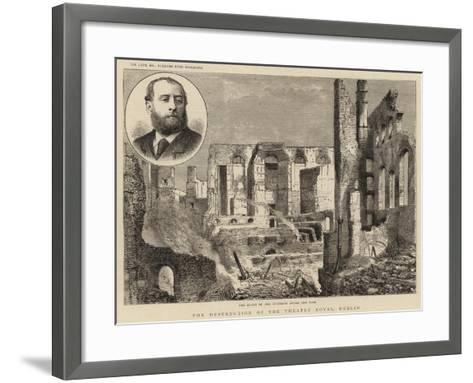 The Destruction of the Theatre Royal, Dublin--Framed Art Print
