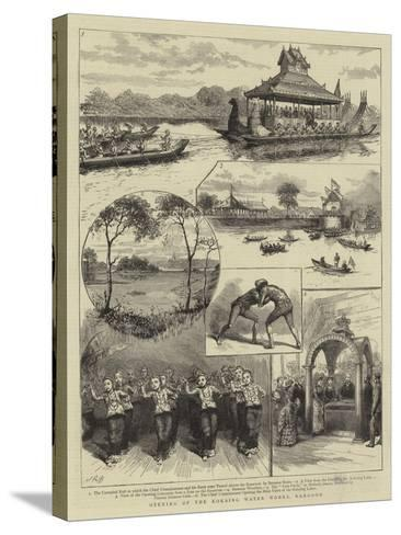 Opening of the Kokaing Water Works, Rangoon--Stretched Canvas Print