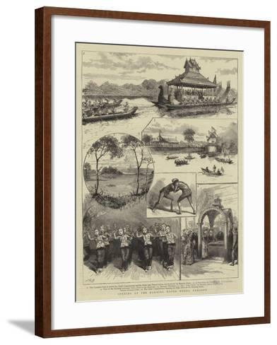 Opening of the Kokaing Water Works, Rangoon--Framed Art Print