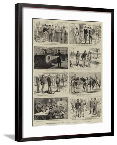 Experiences of Some New Chums in Australia--Framed Art Print